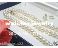 Bracelet,Earrings & Necklace akoya pearl necklace free shipping - AAA MM White Akoya Cultured Pearl Necklace Earring quot