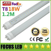 Wholesale 200pcs W m Feet ft T8 LED Tube Light With Frosted Clear Cover High Bright Warm Natural Cool White AC V CE ROHS FCC