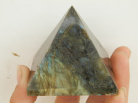natural quartz crystal - Natural labradorite QUARTZ CRYSTAL pyramid POINT HEALING