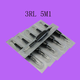 Wholesale Tattoo Silicon Grips with Needles RL M1 Black Disposable Handle for Permanent Tattoo