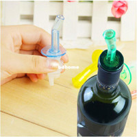 Wholesale 4Pcs Bottle Pourer Pour Spout Stopper Dispenser Liquor Flow Olive Wine Oil Set