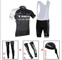 Wholesale 2014 new TREK Team Cycling Jersey Kit Short Sleeve Cycling Jerseys Bib Sets amp Arms amp Legs amp Scarf