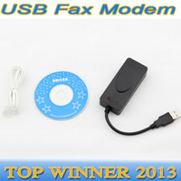 Wholesale 56K Data Voice V9 V9 ports Dual USB Port black USB Fax Modem External for Win7 Ethernet Phone