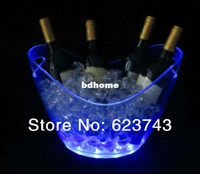 Wholesale plastic led ice bucket SL LIC03B color changing plastic ice bucket luminous ice pail ice cooler glow Beer cask