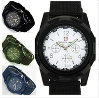 Wholesale Down price Gemius Army Watch Men Military Pilot Fabric Strap Sports Men s Fashion Cool Watch DHL free ship