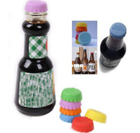Yes beer silicon - Mix color silicone Retail Fashion Colorful Novelty Silicon Bottle Lid Beer Lid NP304