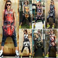 Wholesale New Arrival Summer vest D Harem pants Personality Casual set hip hop Fashion sports suit women s tracksuits sportswear