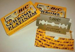 Wholesale hot sale blades packs Classic BIC Chrome Platinum double edge razor blades