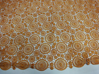 Wholesale 6AF37 GD shining big african french lace fabric african swiss lace fabirc
