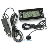 Wholesale 1pc Car Thermometer Temperature Display Alarm Clock