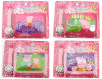 Wholesale 100pcs Mixed styles Ben boys cartoon wrist watch Kids Children wallet sets one direct frozen and peppa pig girls watches