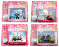 Wholesale despicable me Purse Wallet and Wrist watch sets kids children one direct frozen and peppa pig christmas cartoon quartz pack gift watches