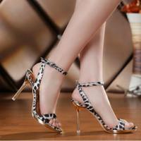 Women Stiletto Heel PU 2014 new fish head high-heeled sandals,Sexy Leopard Plus Size sandals,Stiletto Heel .