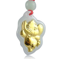 Pendant Necklaces Unisex Other 2014 New Jin Xiang Yu luck elephant pendant A cargo of natural jade pendant wholesale