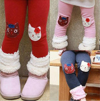 Wholesale Leggings Baby Autumn Winter thick Tights Children Trousers baby girls legging pants cotton Tights with lovely animal wholesalea