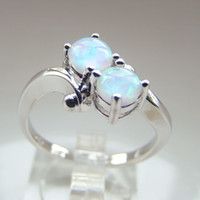 With Side Stones South American Women's Wholesale - Hot Sale White Opal Wedding Rings Fashion Opal Jewelry Ring Size #7,8 DR301403101R-B-2.1g Free Shipping