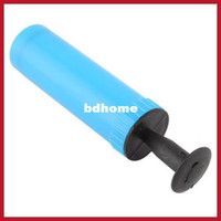 Wholesale chinamart Mini Colors Plastic Hand Air Pump W Needle Ball Party Balloon Soccer Inflator hours dispatch