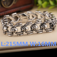 Wholesale Fashion Men s Biker Punk Skull Cycle Bracelet Titanium Steel Man s HigH Quality Fashion Jewelry SMTSL11
