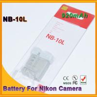 Wholesale 2PCS NB L digital Li ion batteries NB10L Rechargeable L Camera Battery for Canon G1X G15 SX40HS SX50HS SX40 SX50
