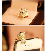 Des charmes! Pour Iphone! 30pcs Style Rhinestone Crystal / 3.5mm Anti Dust / Earphone Jack Plug Stopper