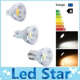 Acheter en ligne Dans la lumière conduit 6w-Dimmable GU10 E27 E26 Ampoules Led Lumière Ultra Lumineuse 12W 9W 6W COB GU5.3 MR16 Led Spot Down Lampes Chaud / Cool Blanc AC 110-240V + CE ROHS UL