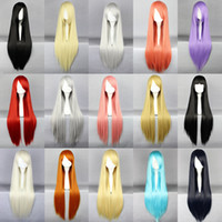 Wholesale Cosplay wig long straight hair wig cm wifing female straight synthetic hair wig
