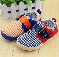 Unisex Summer Cotton OUTLETS!Children's casual shoes,grid baby shoes,canvas toddler shoes,comfortable wear kids shoes,belt buckle infant shoes.6pairs 12pcs.CH