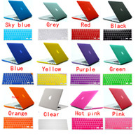 Wholesale 2 in US EU Silicone Keyboard Skin Clear Crystal Matte Rubberized Hard Case Cover for Macbook air quot quot PRO quot quot Retina quot quot in