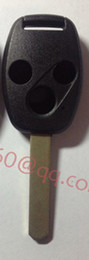 Wholesale KL55 Uncut Remote car key blank Case Fit For Honda Accord Civic CR V Pilot Fit Buttons New Replacement Fob