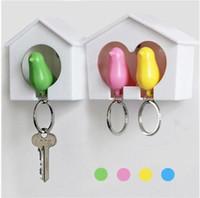 Wholesale Sparrow Whistle Key Chain Single Couple Love Home Wall Hook key Holders Keys Seat Organizer