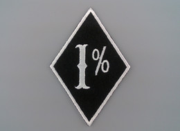 Embroidery Felt Biker Patches for Jacket 1% Outlaw Motorcycle Gang
