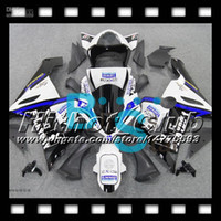 al por mayor zx636 6r playboy-7gifts+100%NUEVO Para KAWASAKI PLAYBOY NINJA ZX6R ZX 6R 636 05-06 #H24 ZX636 ZX-6R 05 06 azul, negro, blanco 2005 2006 modificada para requisitos particulares Libre de Carenado