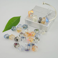 Wholesale 100pcs mm Faceted Lampwork Murano Glass Rondelle European Beads For Charm Bracelet