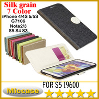 For Apple iPhone  A+++PU+TPU White Flip Leather Case for Samsung S3 S4 S5 NOTE 2 3 G7106 4S 5S with Credit Card Slot Silk print Stand PU Leather Case Plastic Back Cover DHL