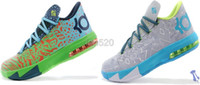Mid Cut Men PVC Hot sale!New KD 6 Shoes for Men's Basketball Shoes Cheap Sneakers Men Athletic Shoes size 41-46