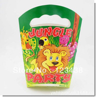 Cheap Happy Children's Birthday Party Supplies Kids Toys Lion King Jungle Paper Gift Favor Bags