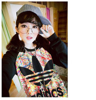 Wholesale Fall new sweatshirts harajuku fashion unique modelling tie dye sky graffiti women hoodies