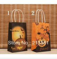 Paper Hand Length Handle Kraft Paper Polka Dot kraft paper gift bag, , Festival gift bags, Paper bag with handles, wholesale price free shipping