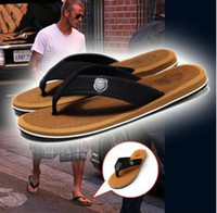 Wholesale new fashion summer Toe clip Low heeled large size slippers man s shoes beach flip flops sandal