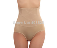 Wholesale Women s High Waist Tummy Control Body Shaper Briefs Slimming Pants Knickers Trimmer Tuck dropShipping