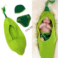 Unisex Spring / Autumn Hooded New Baby Costume Photography Prop Cute Crochet Knit Beanie Hat Caps Cloth Set drop shipping 18827