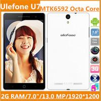 Ulefone U7 /U69 7.0 inch Android HOT Ulefone U7 U69 Phablet MTK6592 Octa Core cell phones 7.0 Inch 2GB RAM 16GB ROM 13.0 MP 1920x1200 OTG Android 4.2 Smartphone Free Gift