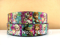 Wholesale mm frozen character printed grosgrain ribbon DIY handmade clothing accessory ribbon