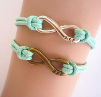 man  woman  gril  boy  bff bracelets - Antiqued Karma Bracelet Infinity Bracelet Best Friend Forever bracelet BFF Best Friends Personalized Bridesmaid Jewelry