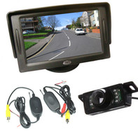 "Car Camera   Wireless Night Vision Car Rear View Kit 7 IR LED Reversing Parking Reverse Camera + 4.3"" LCD Monitor Backup system"