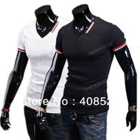 Women Polo Tops New Men V-neck Short Sleeve Slim Fit Casual T-Shirt Tops Blouse Tee M,L,XL,XXL 2colors dropshipping 16532