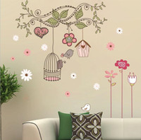 Wholesale Happy Birds Vinyl Wall Stickers Cartoon Wall Stickers Home decoration Wall decals for Kids Nursery Living Rooms