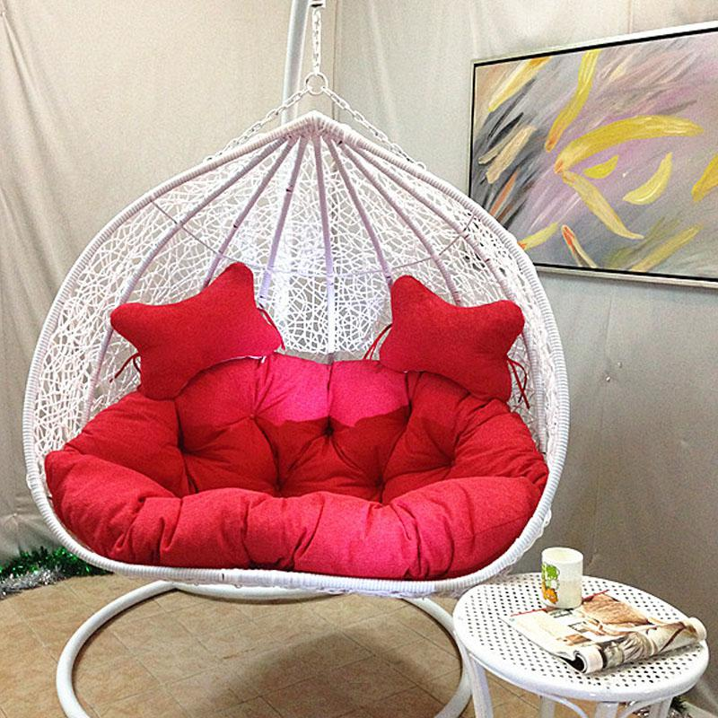 Indoor Hanging Chair Outdoor Swing Cradle Double Bird Nest Basket Rattan  Balcony Hammock Patio Swings Cheap