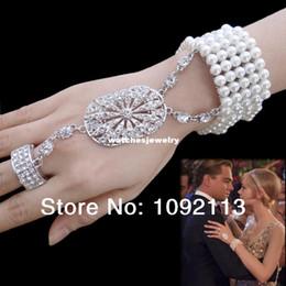 La réalisation de films à vendre-The Great Gatsby Film Bracelet Bague perle de soirée de mariage Anneaux extensible Fait avec cristal Swarovski Elements Livraison gratuite