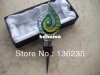 glass bottle stopper - Only One Hand Blown Glass Bottle Stopper for Kitchen Accessories Wine Alloy Stopper